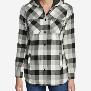 Plaid Black & Gray Flannel Jacket